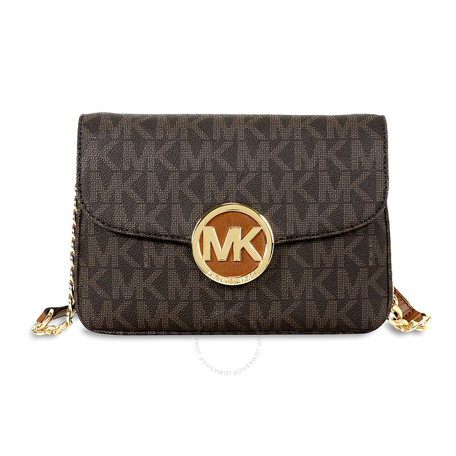 michael kors female 211468 michael kors fulton crossbody bag brown