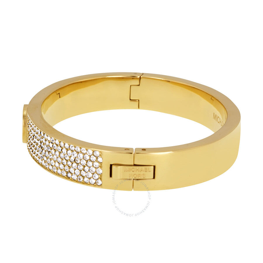bangle jewelry bangles lyst thin michael in metallic product gold hinged gallery kors bracelet