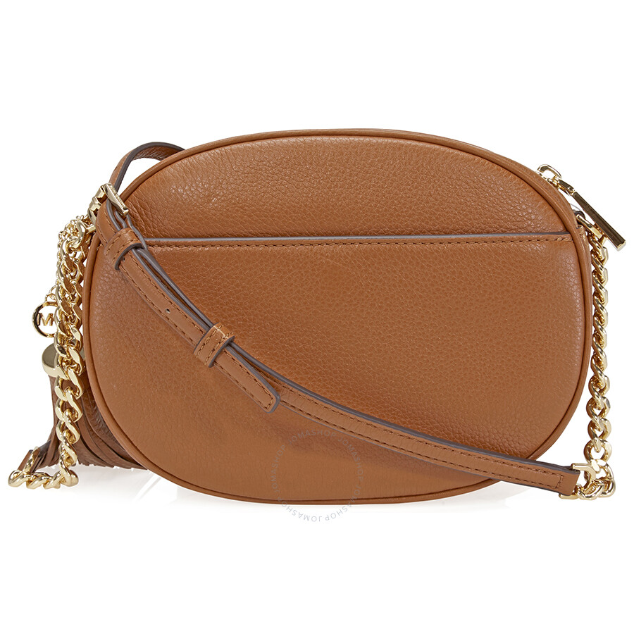 411012c1bac9 ... official store michael kors ginny medium crossbody bag luggage ea6d8  e84f3