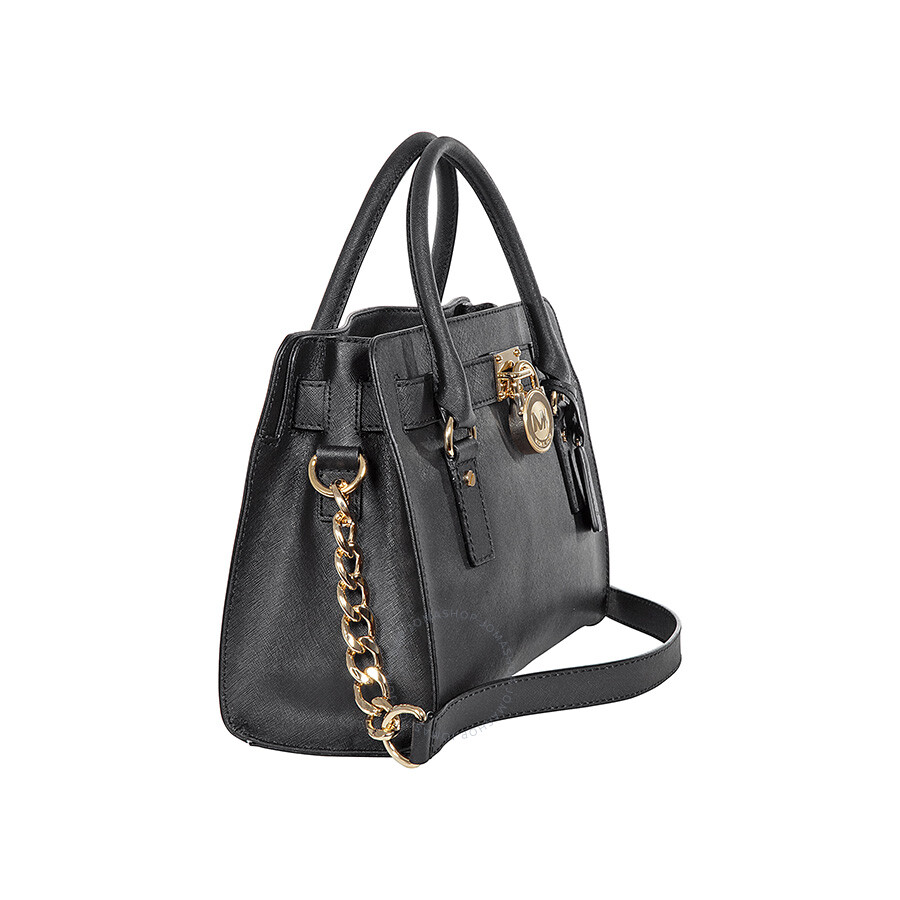 Michael Kors Hamilton Satchel Handbag Black