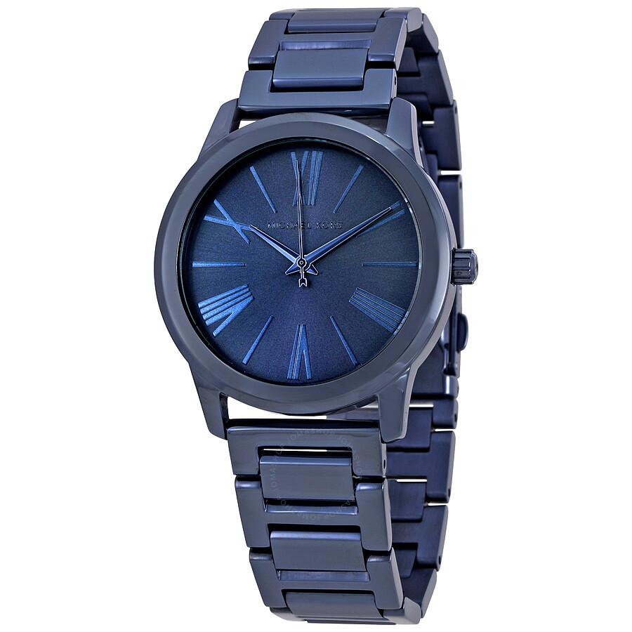 michael kors female 201920 michael kors hartman blue dial ladies watch mk3509