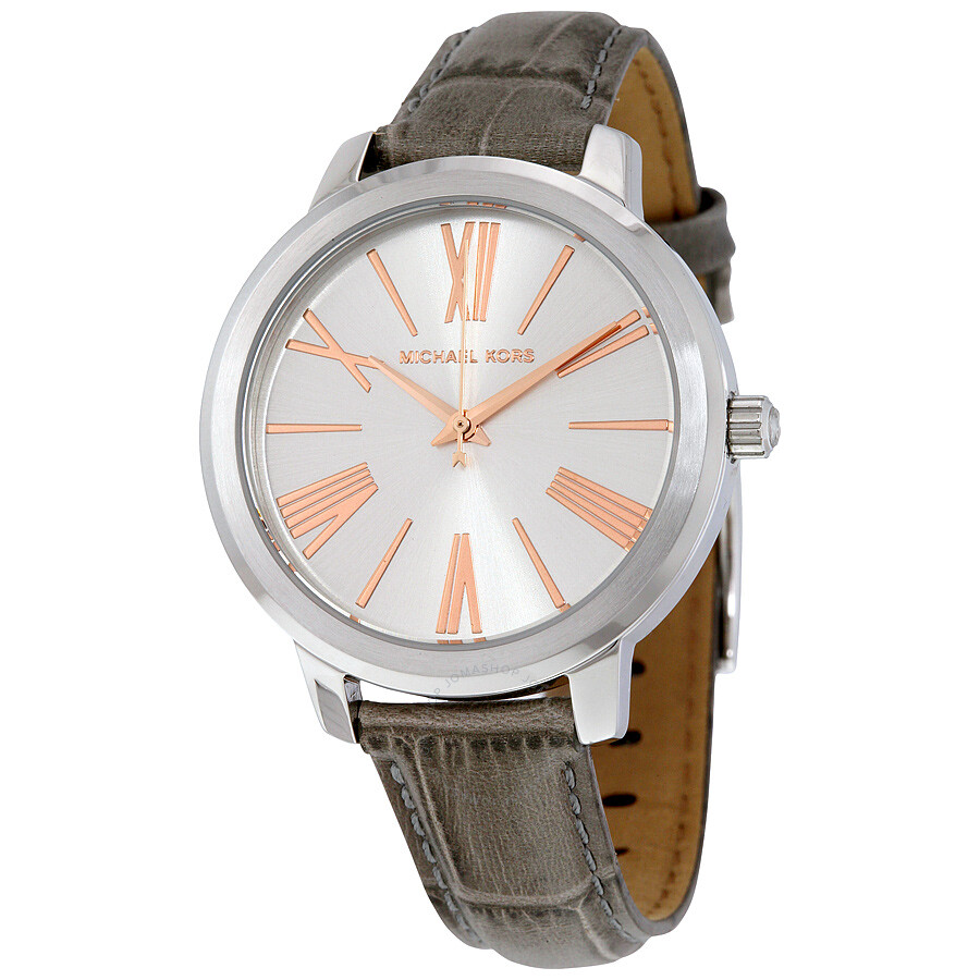 michael kors female 45900 michael kors hartman silver dial ladies leather watch mk2479