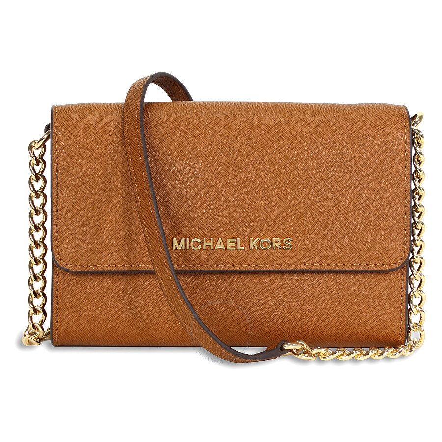 michael kors female michael kors jet set large phone crossbody luggage