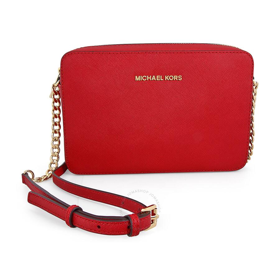 d06a98d67051 ... free shipping michael kors jet set saffiano leather crossbody bags chili  0b0c6 b1110