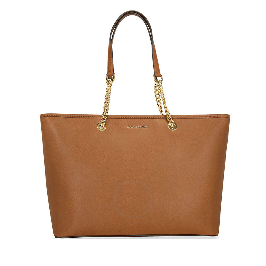 michael kors female michael kors jet set travel medium saffiano leather tote luggage