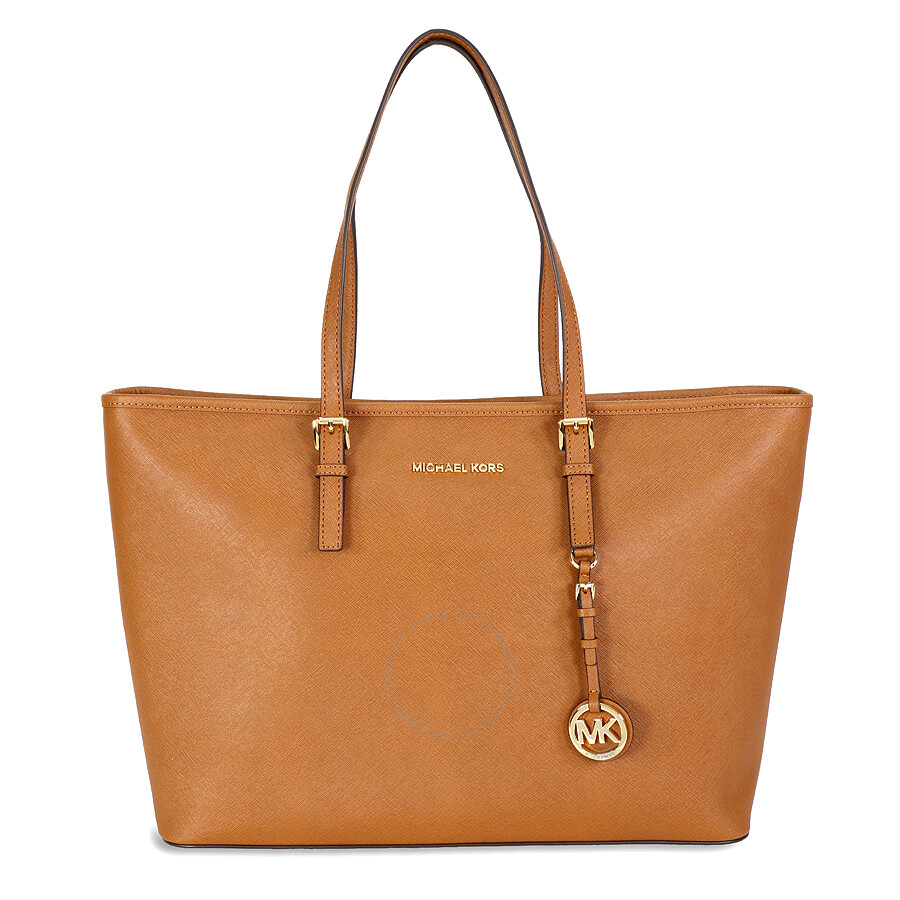 michael kors female michael kors jet set medium travel saffiano leather tote luggage
