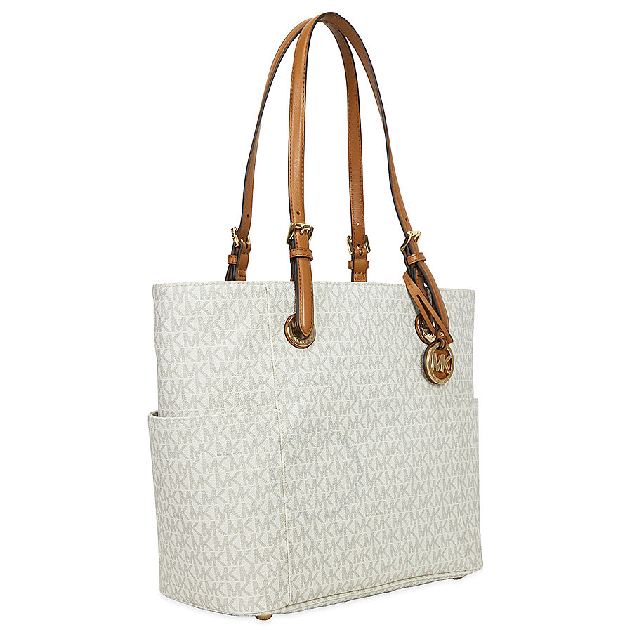 9d51c0a467259 ... cheapest michael kors jet set travel small logo tote vanilla 5853d b50e3