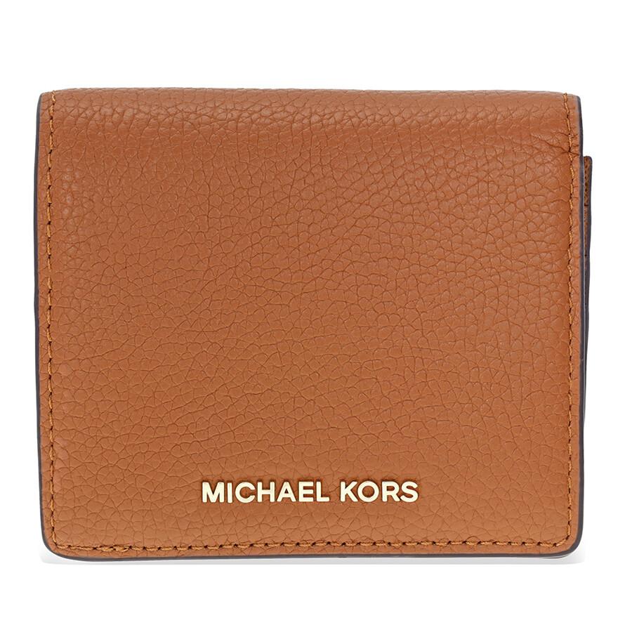 michael kors female michael kors kors mercer leather card case luggage
