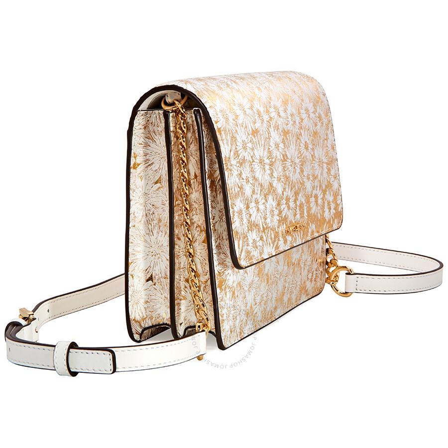 123add77f022 ... backpacks metallic shop michael kors large metallic floral crossbody  bag opt gold 23402 38ac8 ...