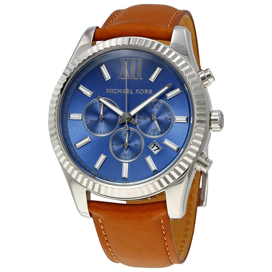 b869b3af9c62 Michael Kors Lexington Chronograph Blue Dial Men s Watch MK8537