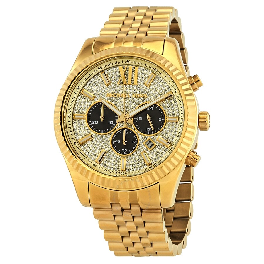 michael kors male michael kors lexington chronograph mens watch mk8494