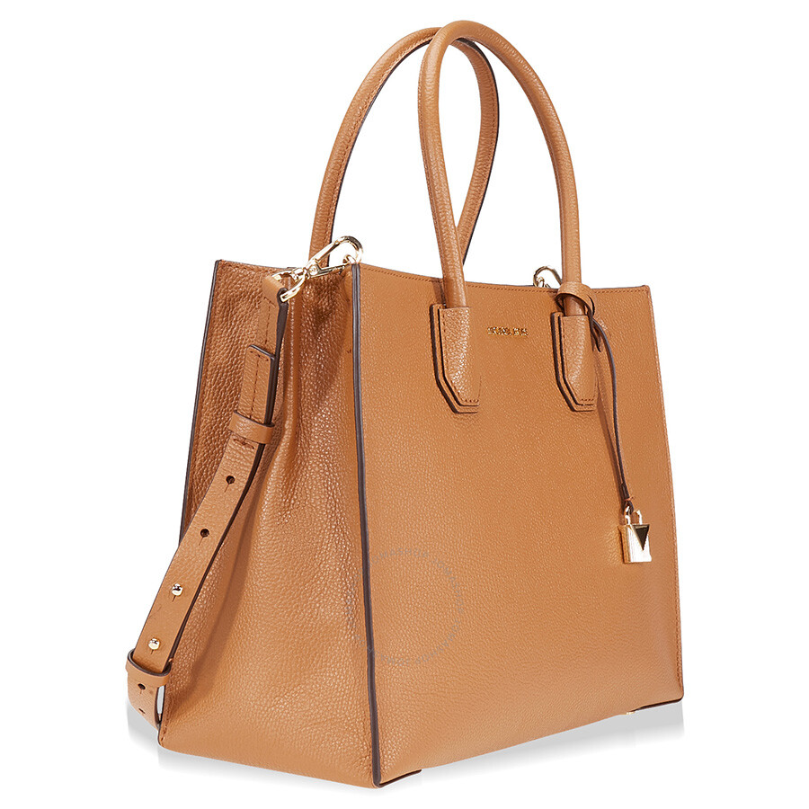 Michael Kors Mercer Large Bonded Leather Tote Acorn