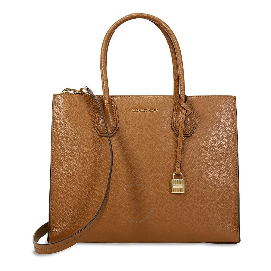 michael kors female michael kors mercer large bonded leather tote luggage