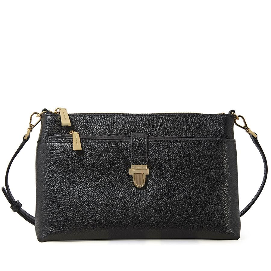 Michael Kors Mercer Large Snap Pocket Crossbody Bag Black Mercer - Alpina snap frames