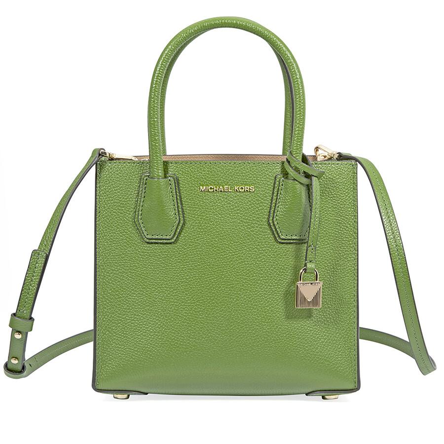 4fc8ec7d0d93 ... where can i buy michael kors mercer medium pebbled leather crossbody bag  true green ca3e5 3db76
