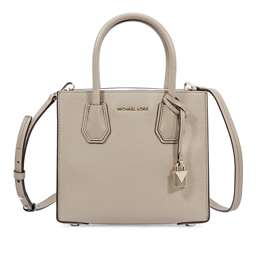 Michael Kors Mercer Medium Pebbled Leather Crossbody Bag- Truffle 4545e34bec5ce