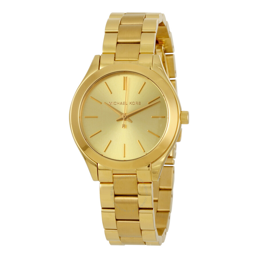 michael kors female michael kors mini slim runway ladies watch mk3512
