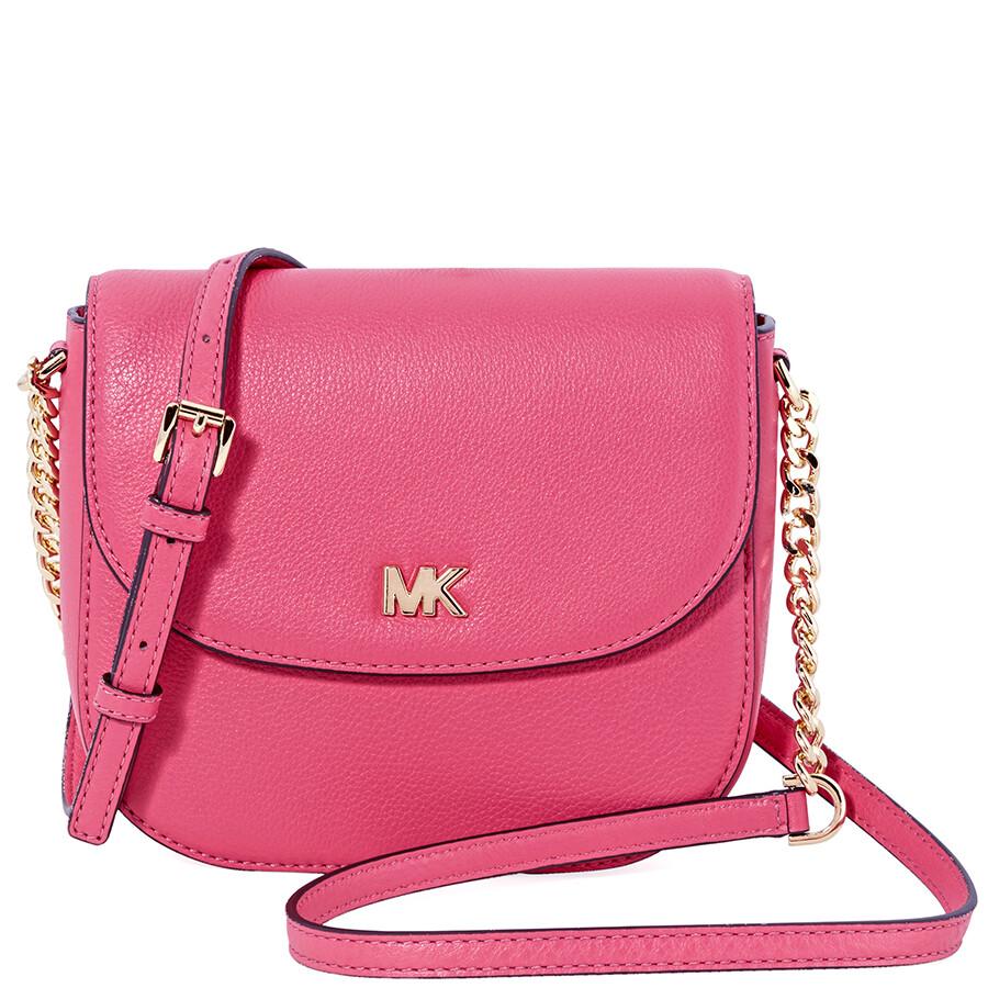 11c7f95f770e7a ... clearance michael kors mott crossbody bag rose pink b7bfd 6eeae