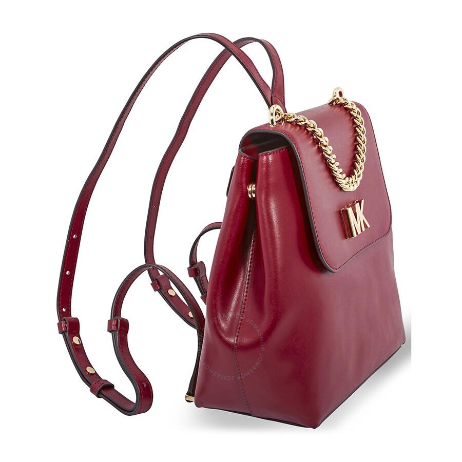 efc7d4838a0f ... czech michael kors mott leather backpack maroon a0ffb 823b9