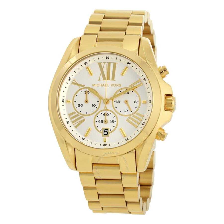 michael kors michael kors oversize bradshaw chronograph unsiex watch mk6266
