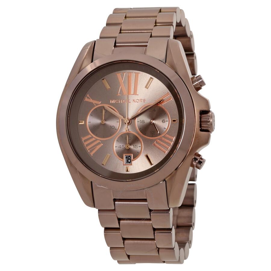 michael kors michael kors oversized bradshaw sable chronograph unisex watch mk6247