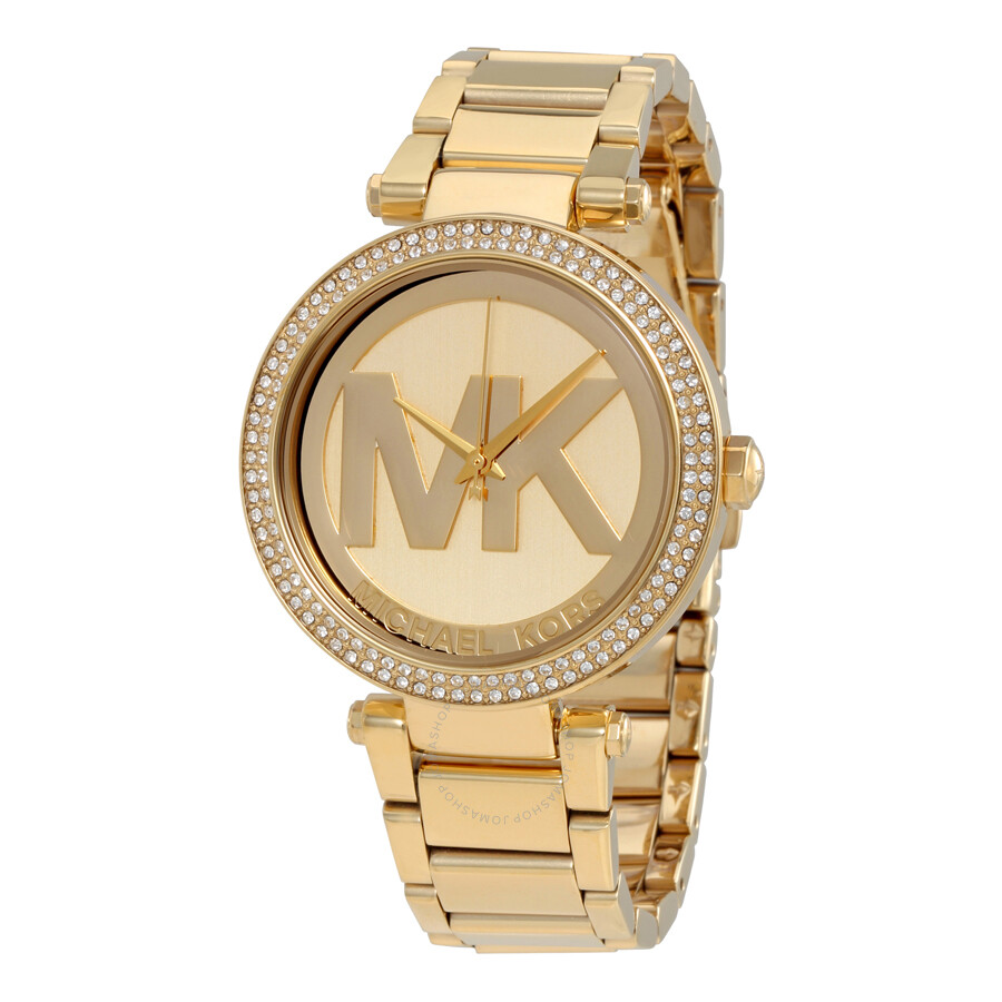 Michael kors parker champagne dial gold tone watch mk5784 parker michael kors watches for Watches michael kors