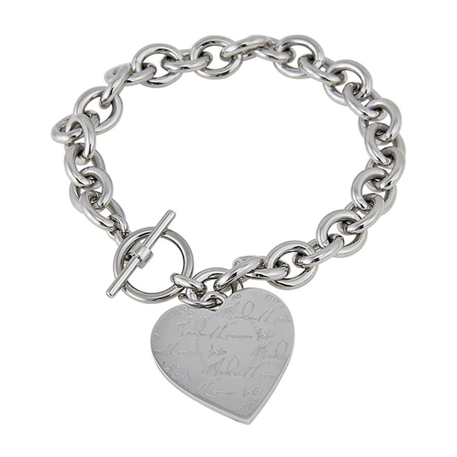 Michael kors pave silver tone heart charm bracelet mkj3964040 michael kors pave silver tone heart charm bracelet mkj3964040 aloadofball Image collections