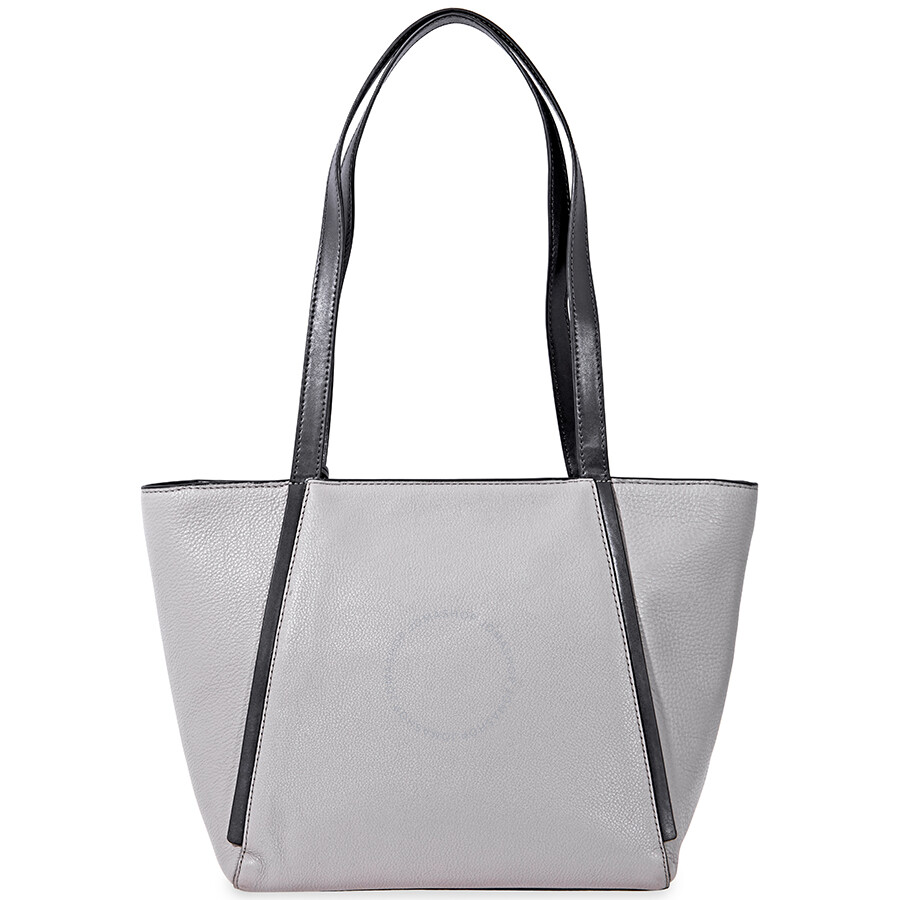 Michael Kors Whitney Pebbled Leather Tote- Grey/Black