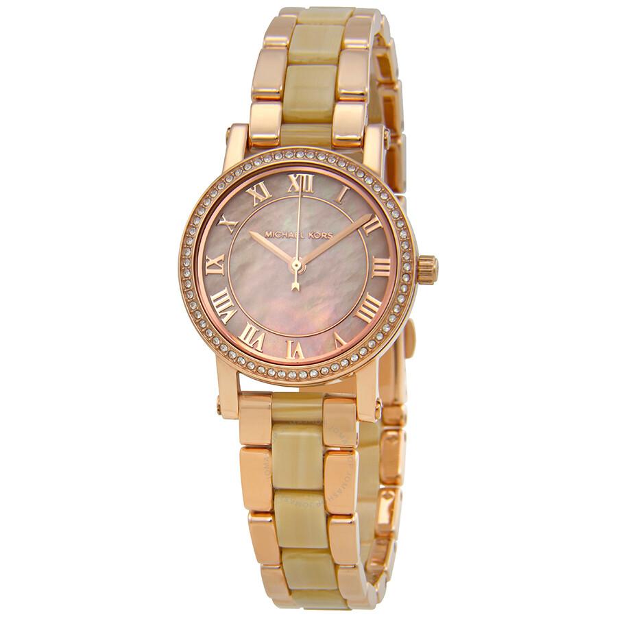 c7f2cbd7f74c ... Michael Kors Petite Norie Pink Mother of Pearl Dial Ladies Watch MK3700  .