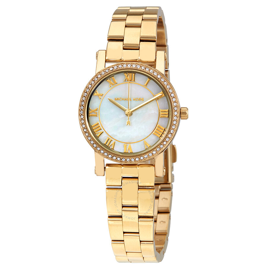 Michael Kors Petite Norie White Mother of Pearl Dial Ladies Watch MK3682