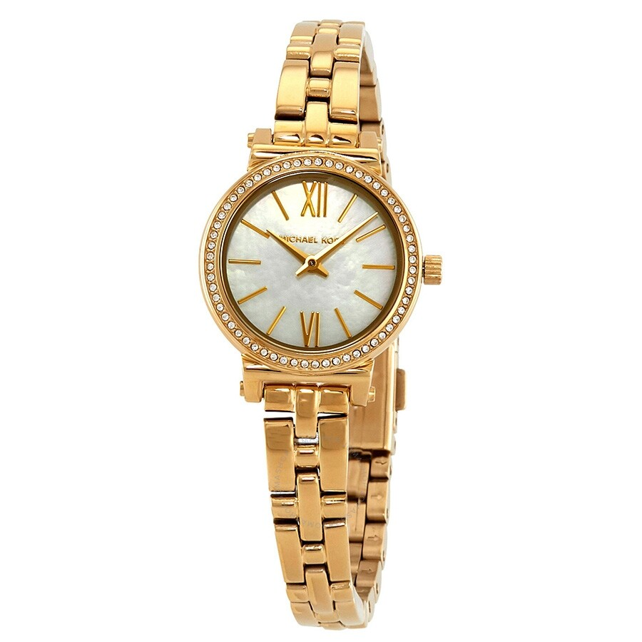 Michael Kors Petite Sofie Crystal Mother of Pearl Dial Ladies Watch MK3833