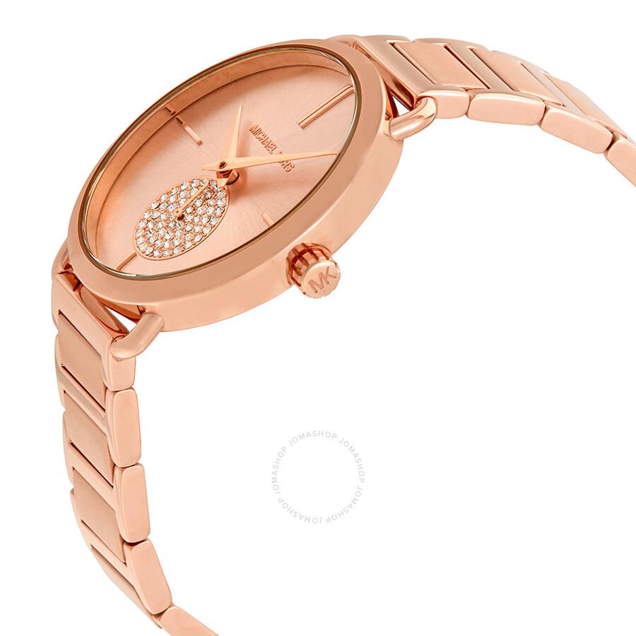 Michael Kors Portia Rose Gold-tone Ladies Watch