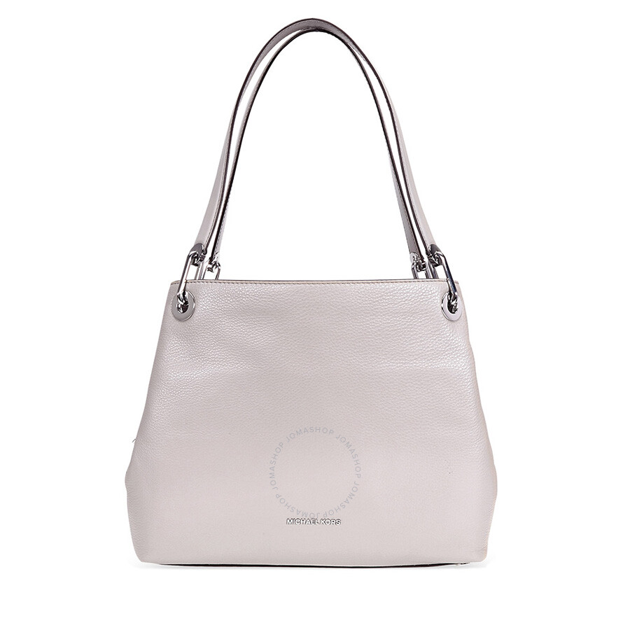 b862df584f0c ... good michael kors raven large pebbled leather shoulder bag pearl grey  9be6f ca956