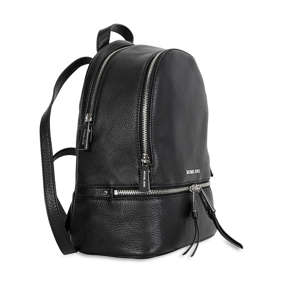 Michael Kors Rhea Leather Backpack - Black - Michael Kors ...