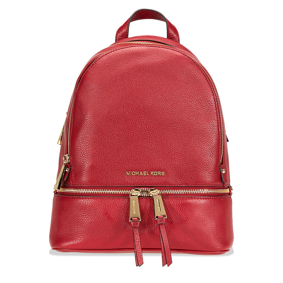 6009b4127ec ... cheapest michael kors rhea medium leather backpack maroon 2214e 737d3
