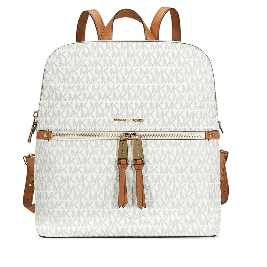 89d9158833e1ba shop michael kors rhea medium slim backpack vanilla ded66 599b1