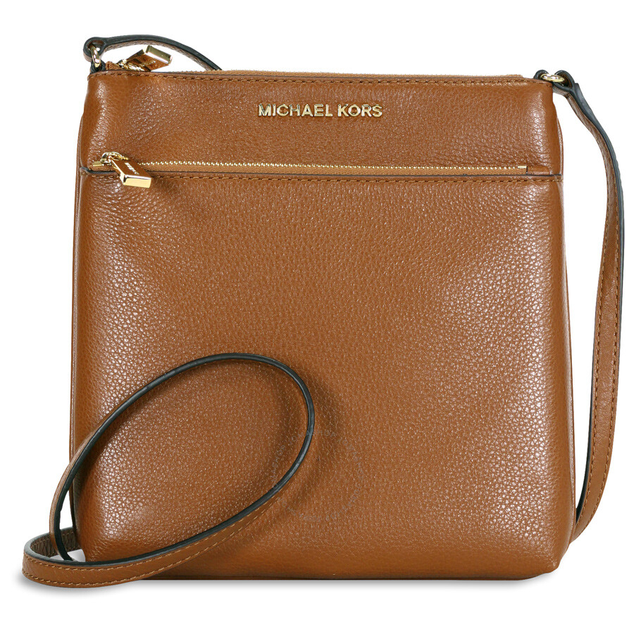 cbc810931e31 ... spain michael kors riley small flat leather crossbody luggage 8d25f  11202