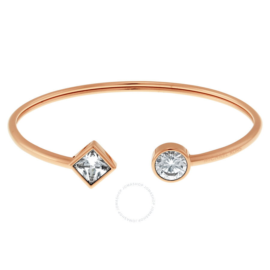 michael kors gold tone rose bangle open cuff bangles