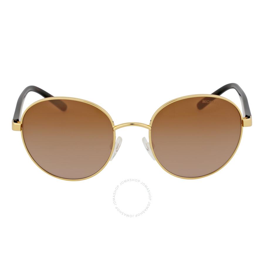 michael kors michael kors sadie round goldsmoke gradient sunglasses mk1007 100413 5219