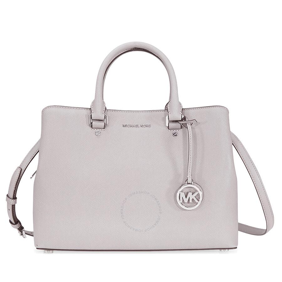 c79a95ae569d denmark michael kors savannah medium leather satchel pearl grey 923d1 8b9b6