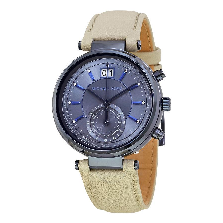 michael kors female michael kors sawyer chronograph blue dial ladies watch mk2630
