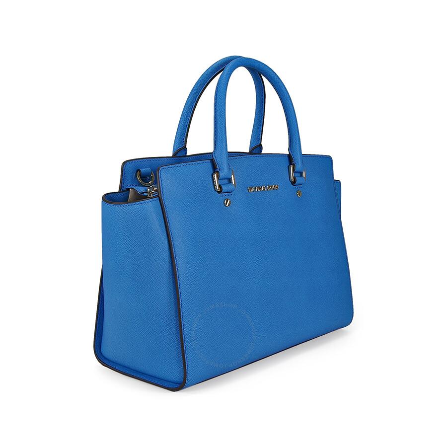 Michael Kors Selma Satchel Handbag Heritage Blue
