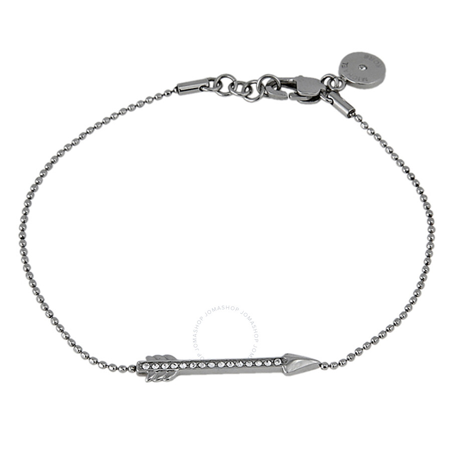 Michael Kors Silver-tone Beaded Bracelet with Crystallized Arrow Charm MKJ3935040