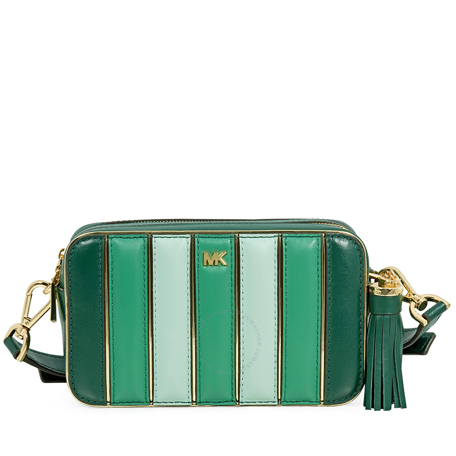 f7a0c67c68f7 Michael Kors Small Tri-Color Leather Camera Bag- Racing Green Multi