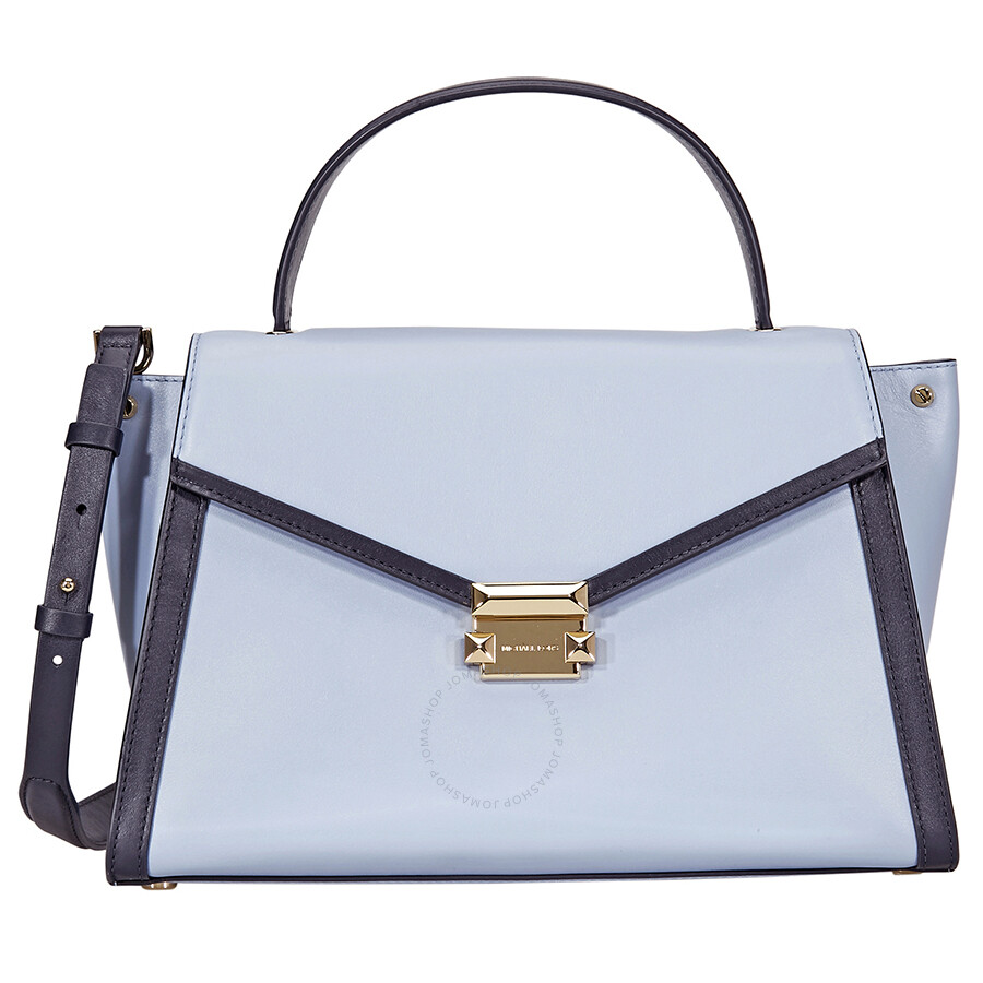 32c0065552e2 ... release date michael kors whitney large leather satchel pale blue  admiral 8302e e1ce5
