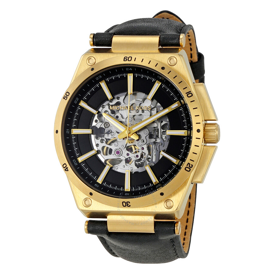 michael kors male michael kors wilder automatic skeleton dial mens watch mk9031