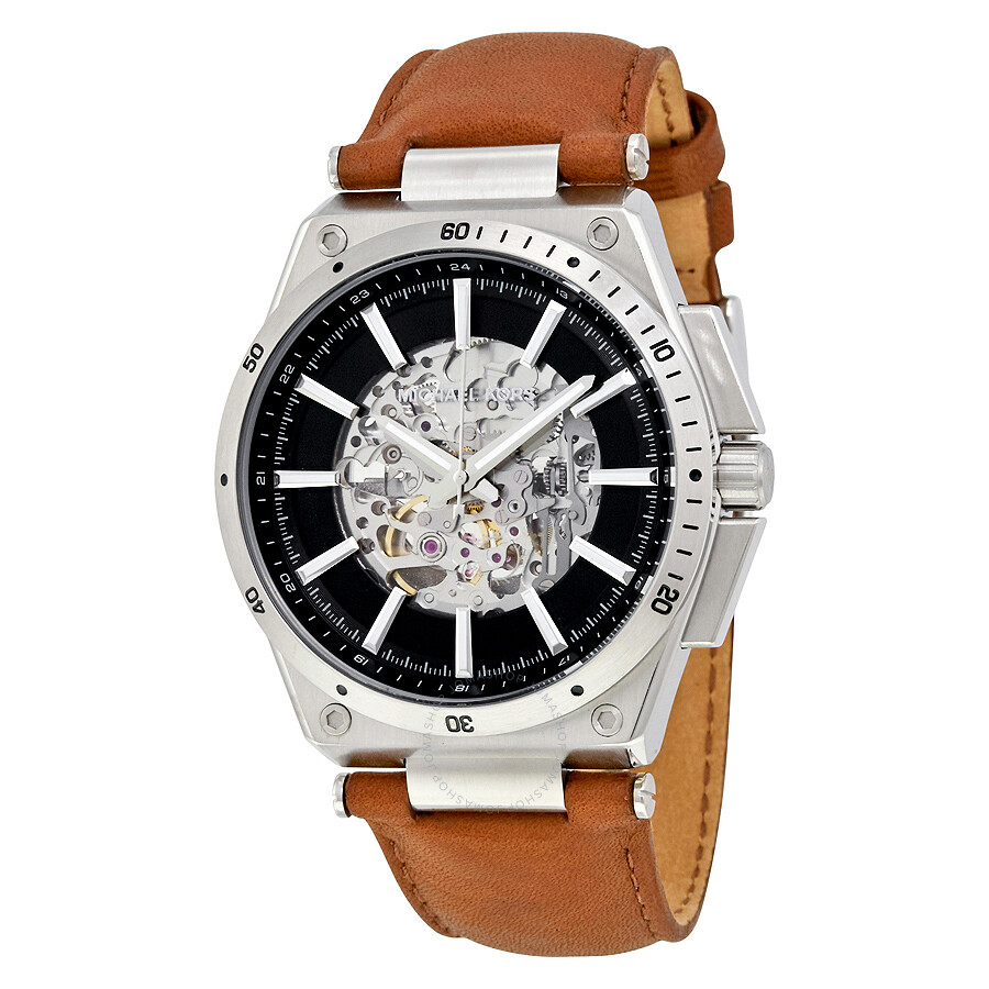 michael kors male michael kors wilder skeleton dial automatic mens watch mk9030