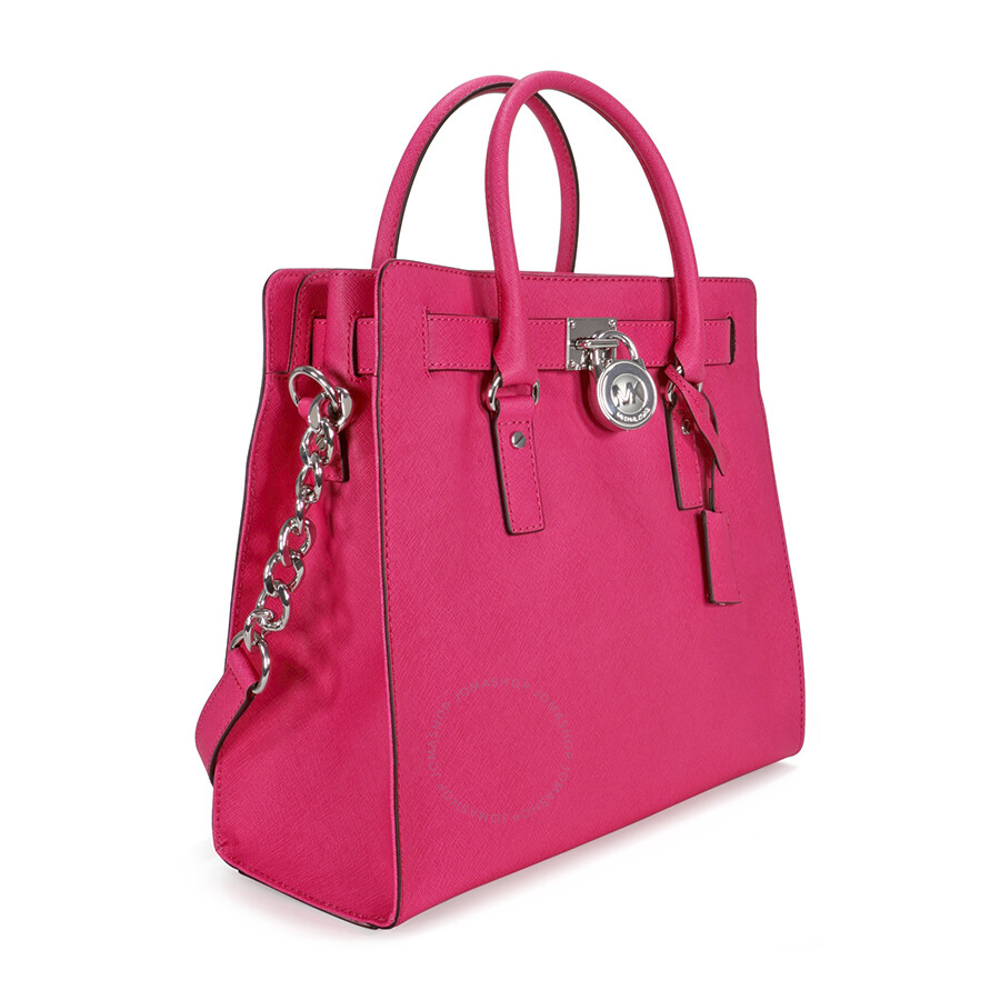 Michael Kors Hamilton Large Leather Tote Raspberry