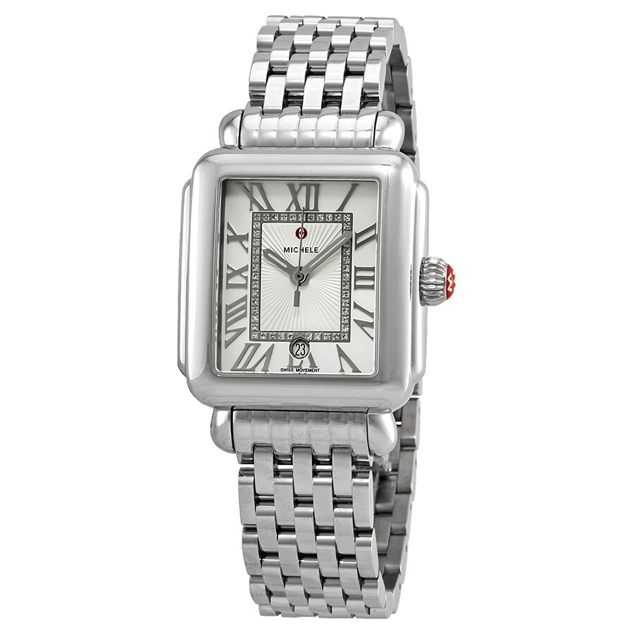 lyst watch metallic watches michele sidney silver accessories in