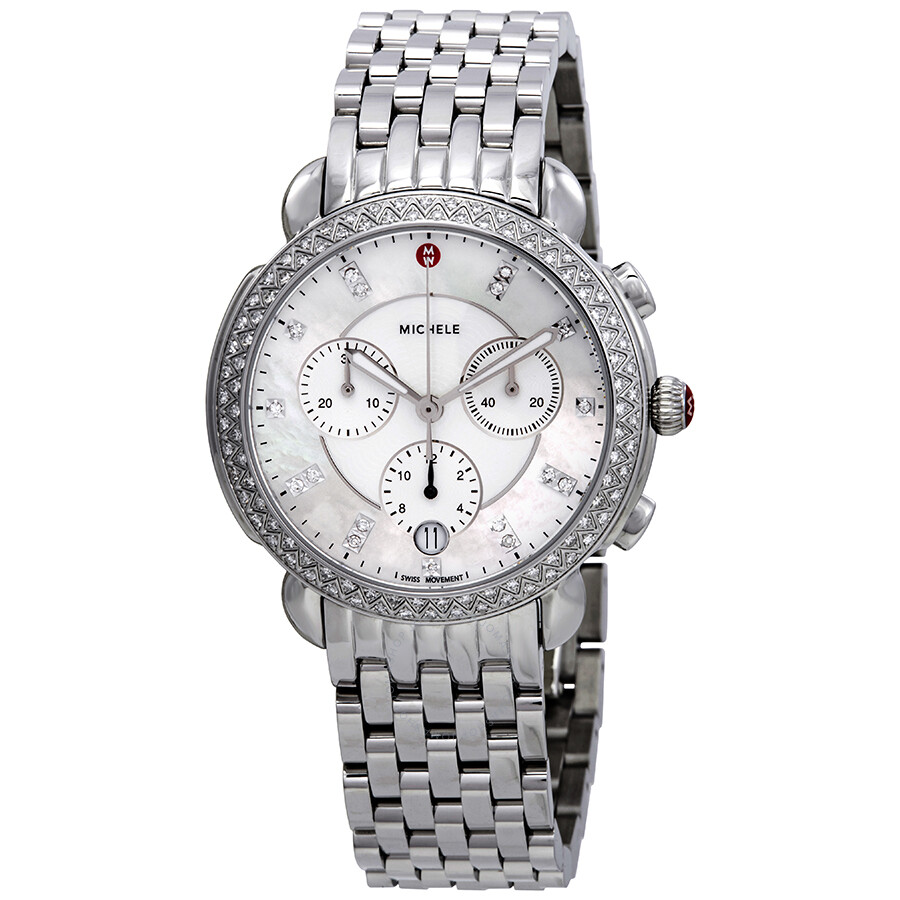 Michele Sidney Chronograph Diamond Ladies Watch MWW30A000001